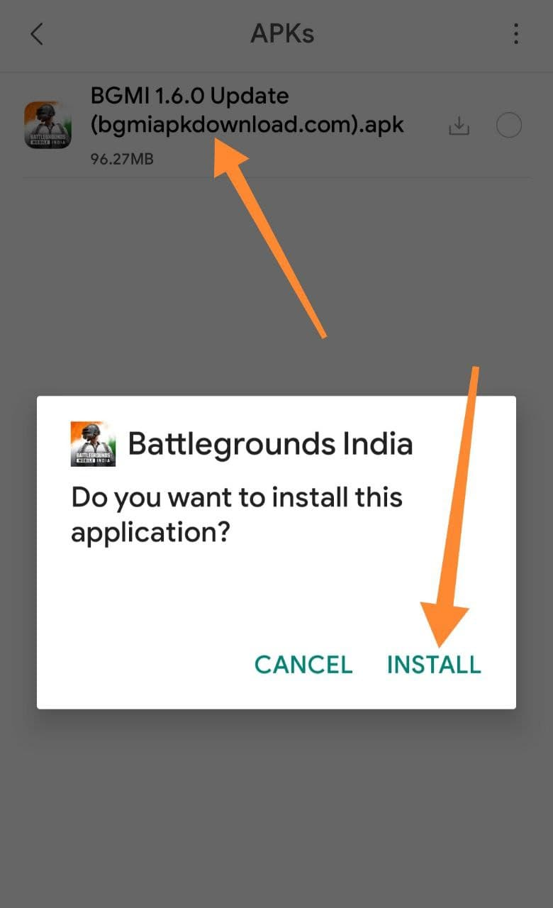 Install Downloaded BGMI Apk